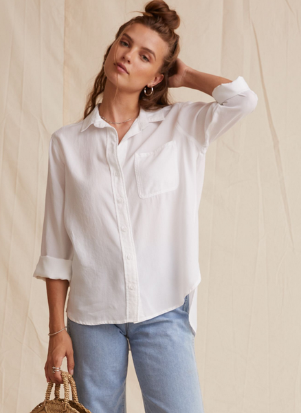Bella Dahl Cupro Shirt WHITE