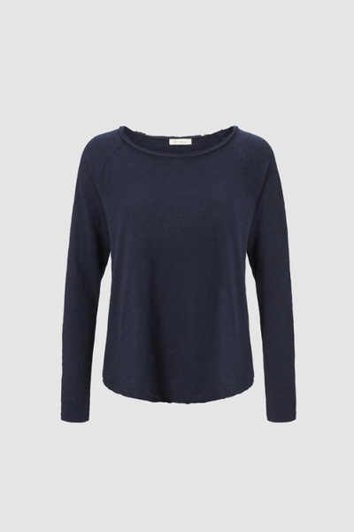 Heavy Jersey Long Sleeve Top / Navy