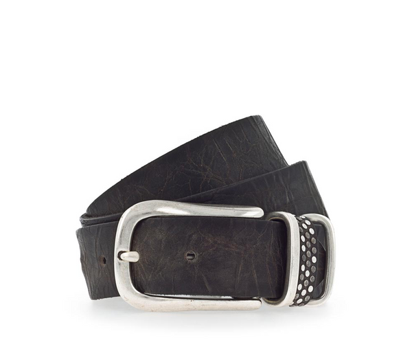 B.Belt Riveted Loop w Silver Buckle
