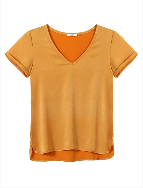 Sack's Ami V Neck T-Shirt Honey