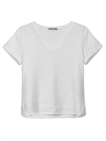 Sack's Ami V Neck T-Shirt White
