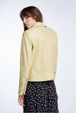 SET Light Yellow Biker Jacket