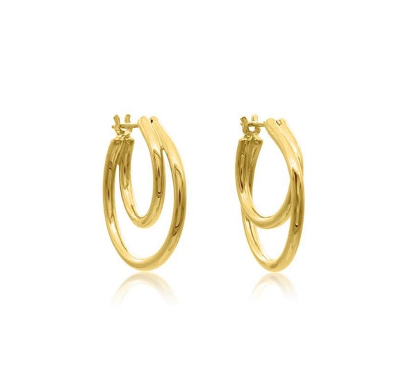 Linda Tahija Helix Hoop Earrings Gold