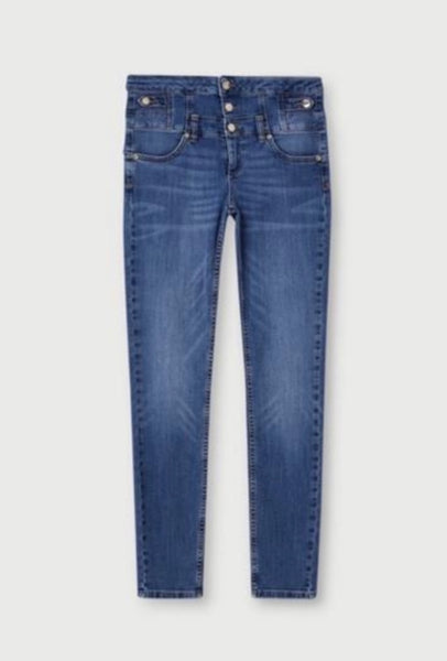 Rampy High Rise Skinny Jeans / Blue Dazed