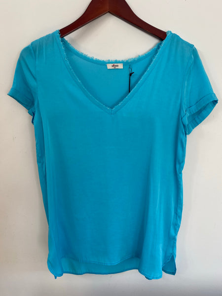 Sack's Daphne Top Turquoise