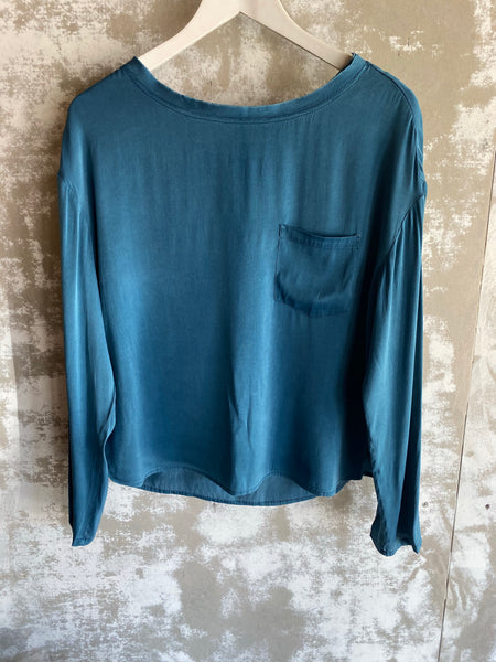 Sacks Ava Top Petrol Blue