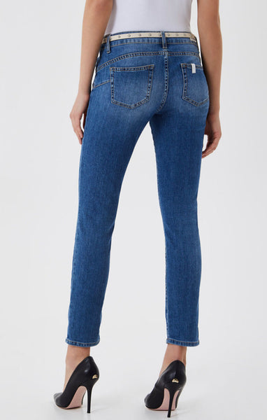 Monroe Eco Friendly Cropped Skinny Jeans / Blue Rapid