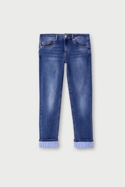 Monroe Skinny Jeans With Turn Up / Blue Nauthical