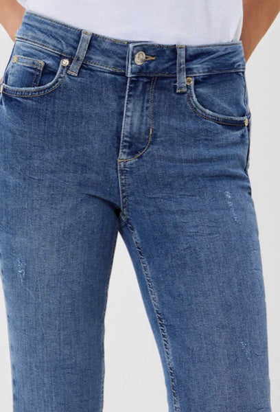 Divine High Rise Skinny Jeans / Blue Start Wash