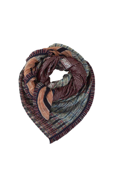 Solito Scarf Metallic Pattern Patchwork