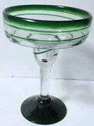 BGX-101-16oz-GR-Green Spiral Margarita Glass (12PCS PER CASE) $5.10per pcs