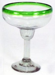 Colored Rim Margarita Glass
