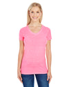 Threadfast Ladies' Triblend Short-Sleeve V-Neck T-Shirt (202B)