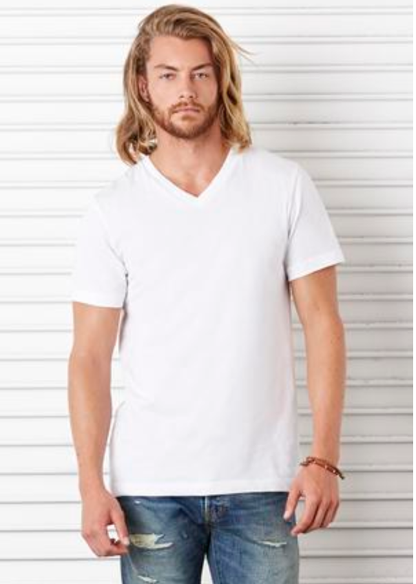 Bella & Canvas JERSEY SHORT SLEEVE V-NECK TEE (3005)