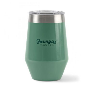 Double Wall Stainless Wine Tumbler - 12 Oz.