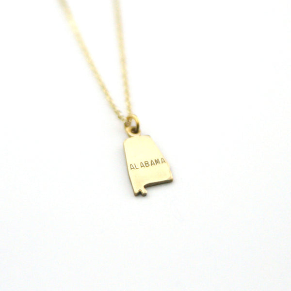 Alabama - State Name Necklace