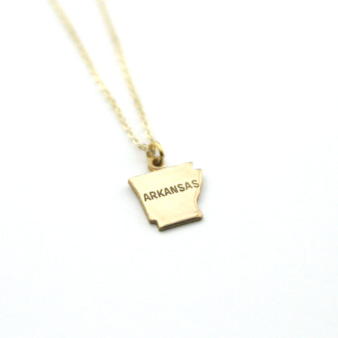 Arkansas - State Name Necklace