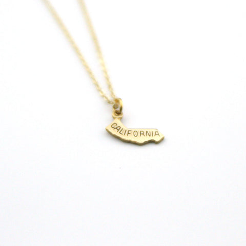 California - State Name Necklace