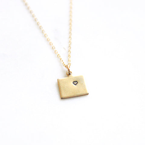 Colorado - State Heart Necklace
