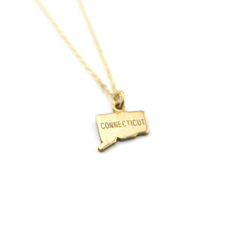 Connecticut - State Name Necklace