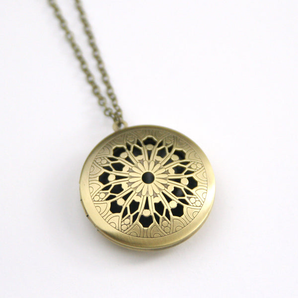 Brass Filigree Locket