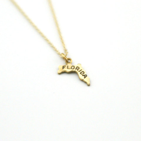 Florida - State Name Necklace