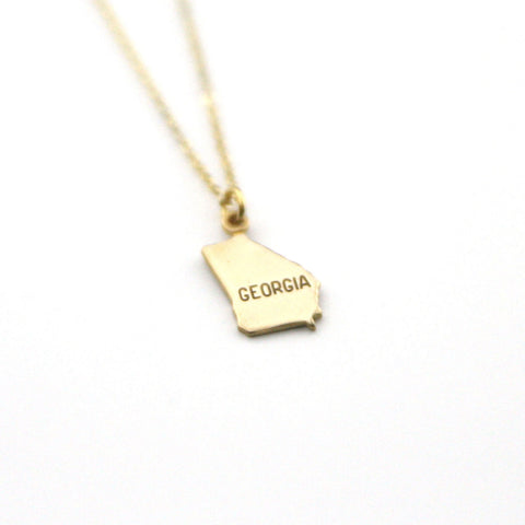 Georgia - State Name Necklace