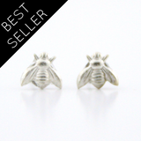 Tiny Bee - Silver Earrings