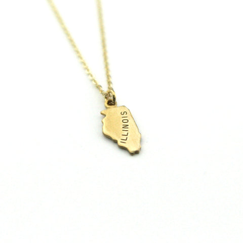 Illinois - State Name Necklace