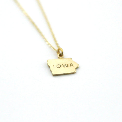 Iowa - State Name Necklace