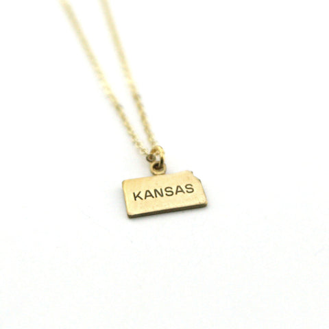 Kansas - State Name Necklace