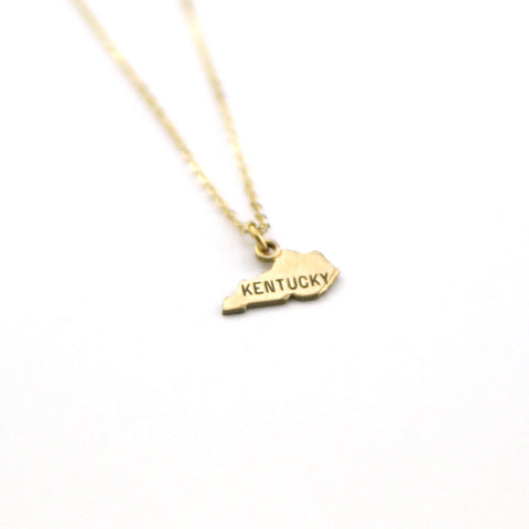 Kentucky - State Name Necklace