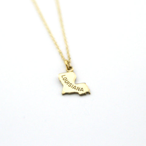 Louisiana - State Name Necklace