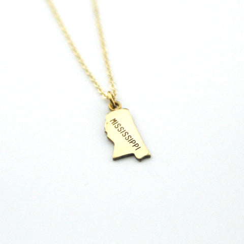 Mississippi - State Name Necklace