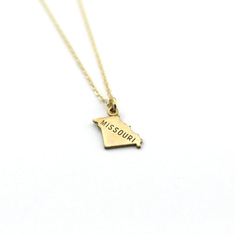 Missouri - State Name Necklace