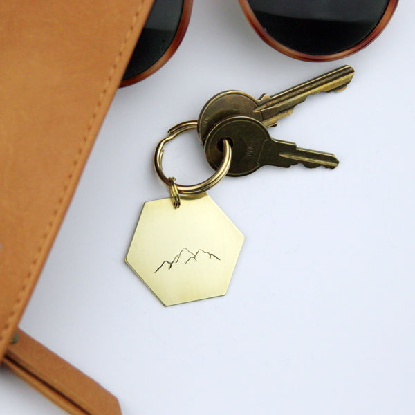 Mountain Range - Stamped Keychain