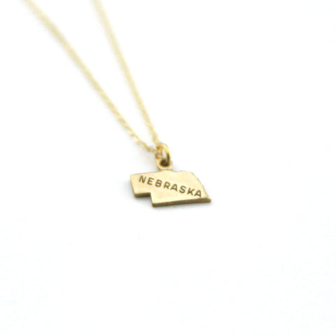 Nebraska - State Name Necklace