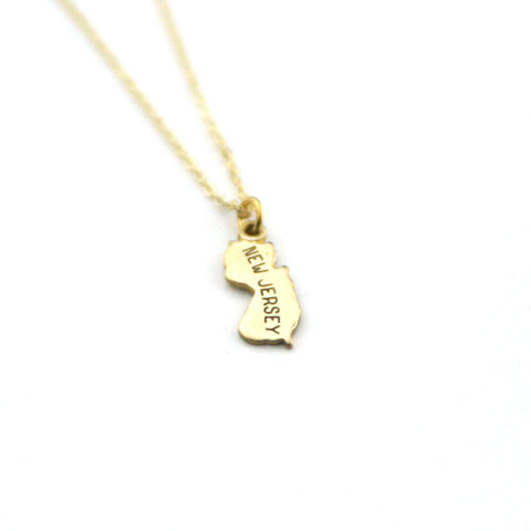 New Jersey - State Name Necklace