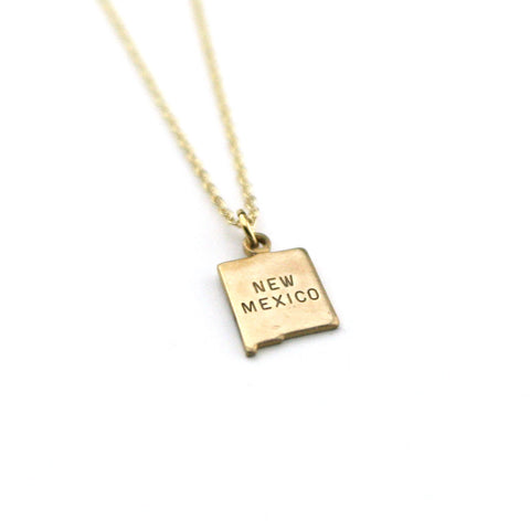 New Mexico - State Name Necklace