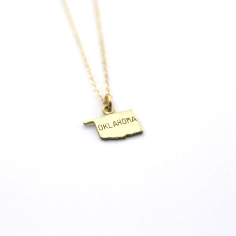 Oklahoma - State Name Necklace