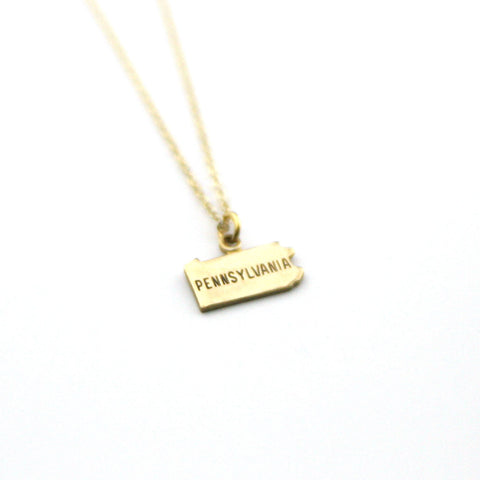 Pennsylvania - State Name Necklace