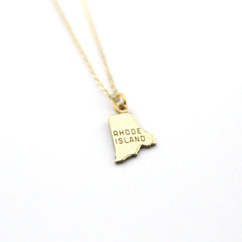 Rhode Island - State Name Necklace