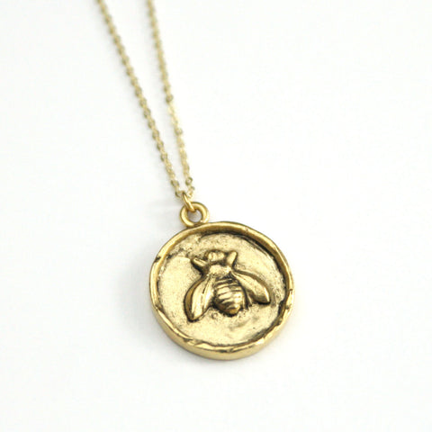 Golden Bee - Gold Plated Necklace