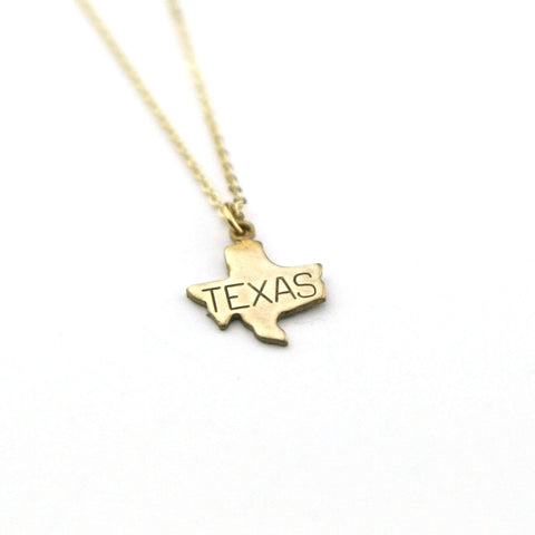 Texas - State Name Necklace