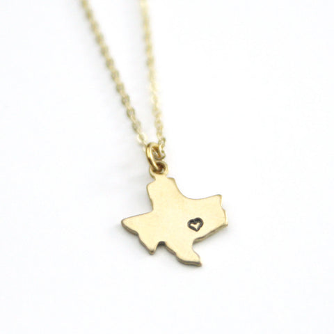 Texas - State Necklace