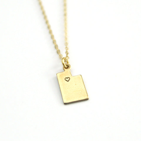 Utah - State Heart Necklace