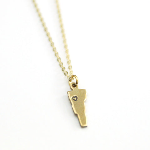 Vermont - State Heart Necklace