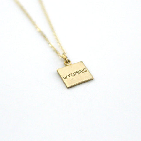 Wyoming - State Name Necklace
