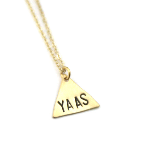 YASS - Brass Stamped Necklace