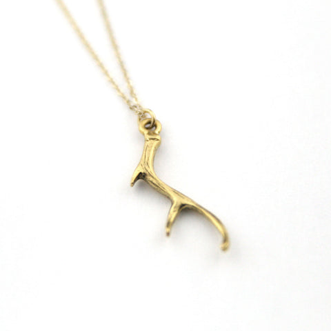 Golden Antler - Gold Plated Necklace